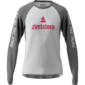 Zimtstern PureFlowz LS Shirt Men glacier grey/gun metal/cyber red